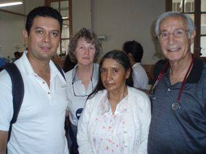 (left to right) Milton Solis, Sallie Weissinger, Juana Lobatóu de Gamboa, Al Goldberg