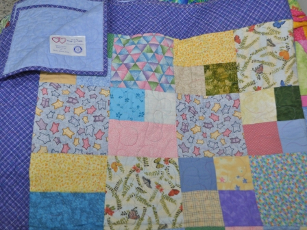 A quilt from wrap-a-smile