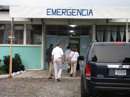 Entering the hospital